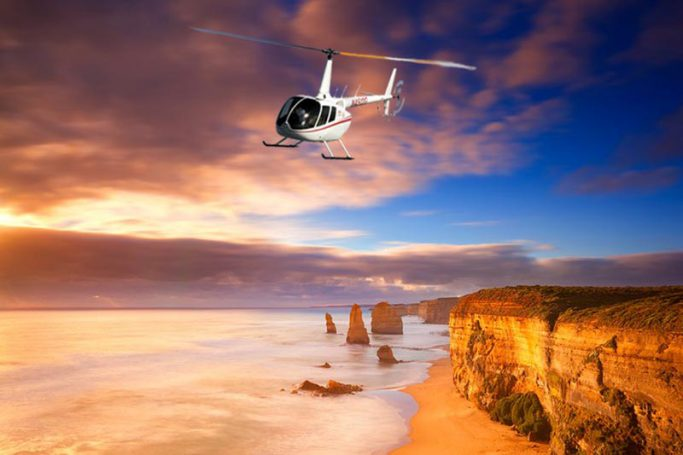 helicopter-ride on 12-Apostles