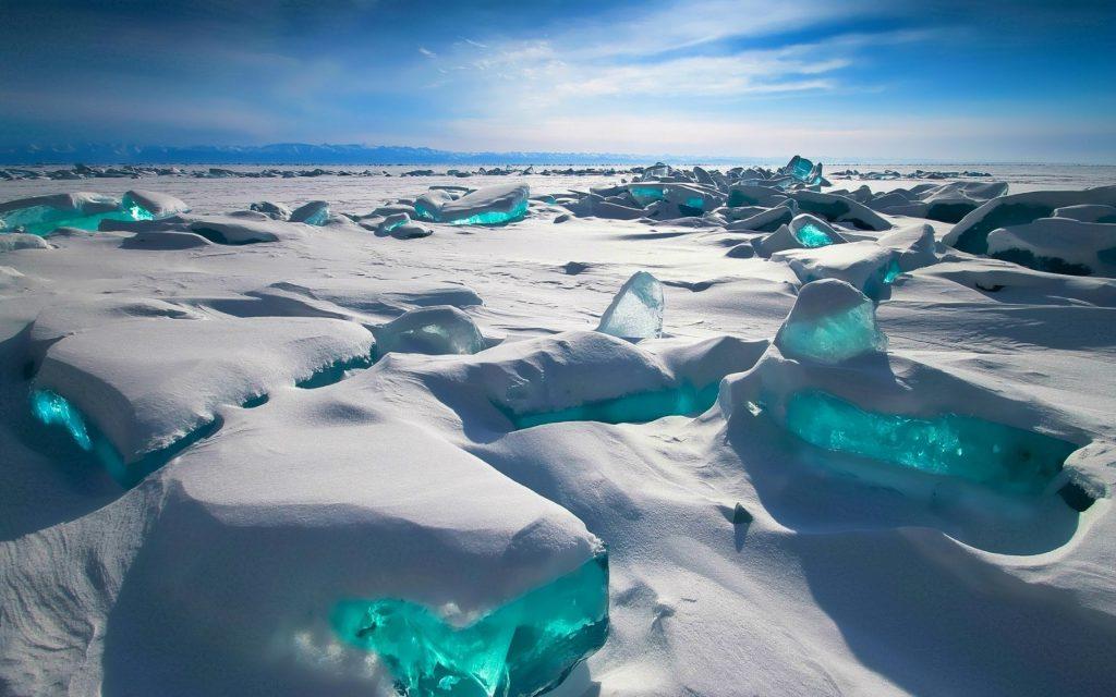 Ice on Lake Baikal