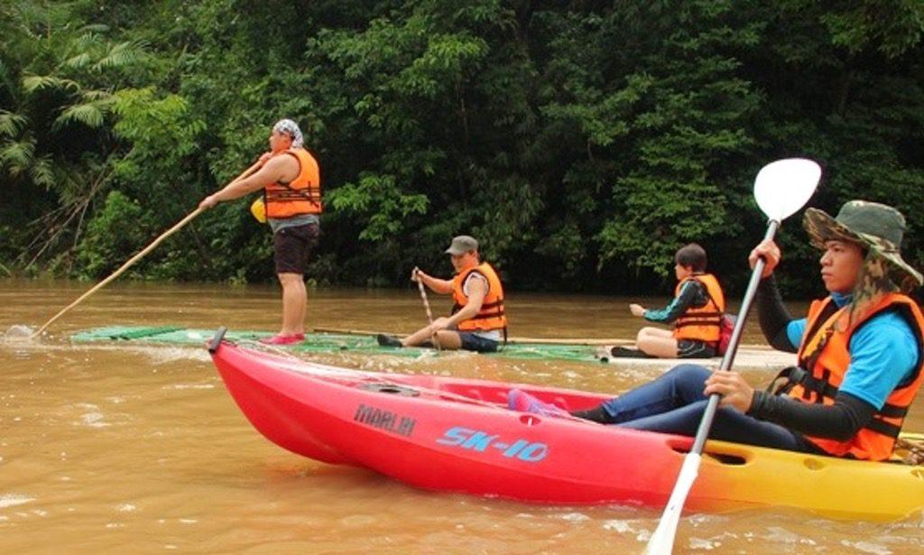 Bamboo Rafting at Semadang River