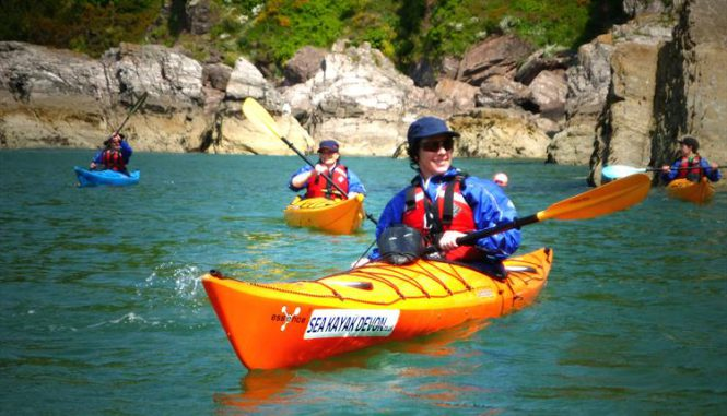 Kayaking at South Devon Coast