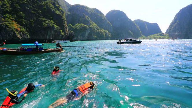 Snorkeling in Maya Bay