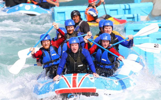 Water rafting at Waltham Cross
