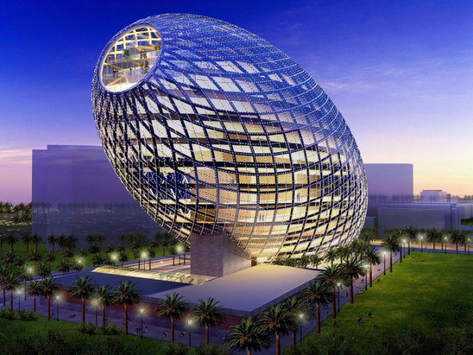 Cybertecture Egg Office Building