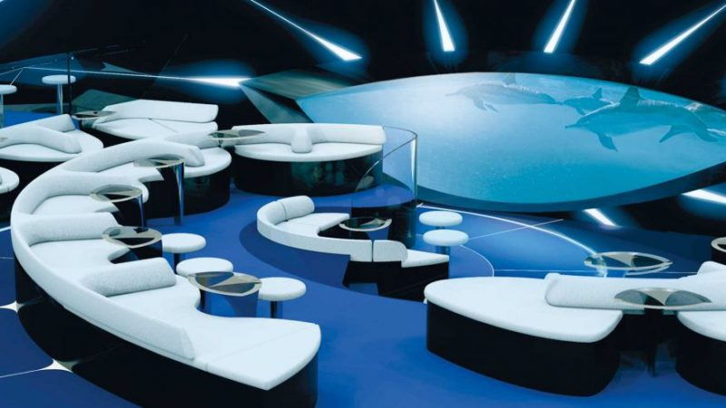 First Underwater Cruise Ship Lounge